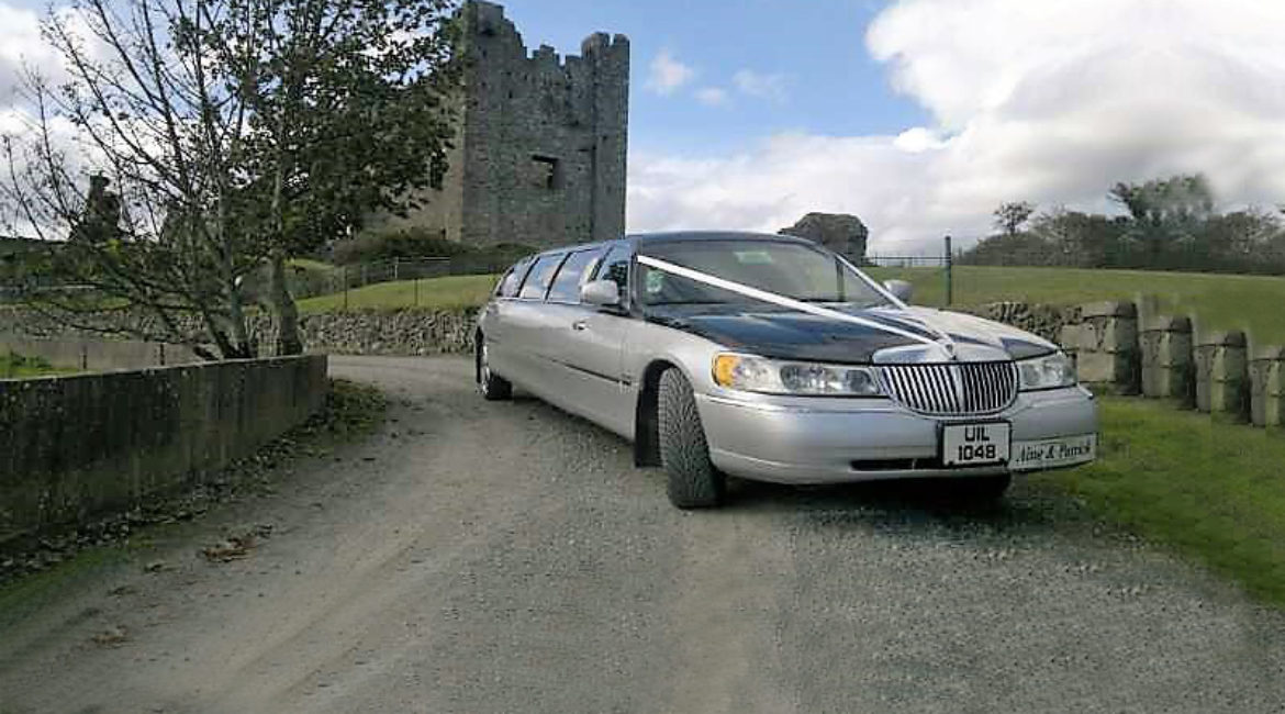Silver-black Lincoln limo - Holds 8